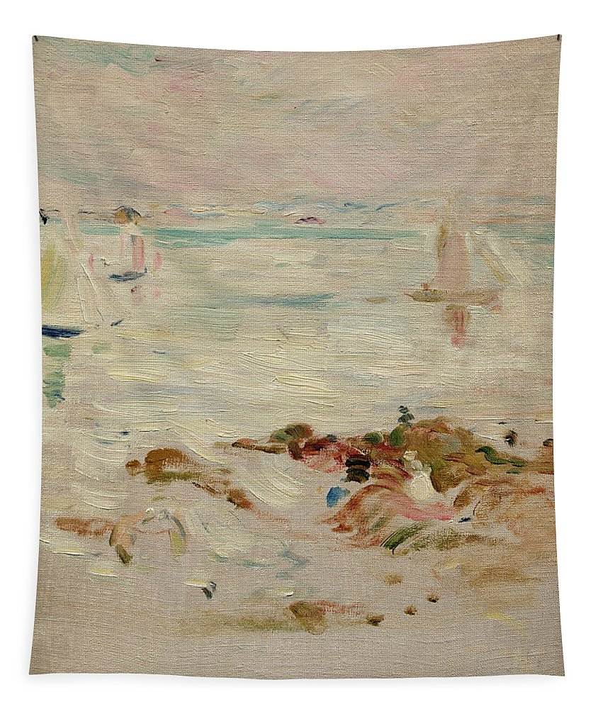 Sailboats Tapestry featuring the painting Sailboats by Berthe Morisot
