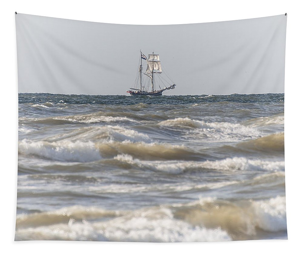Port Tapestry featuring the photograph Sailin Home by Alex Hiemstra