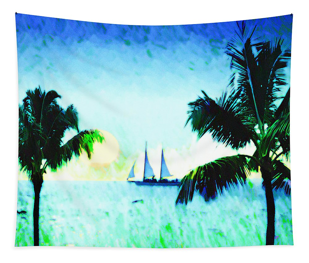Sailing The Keys Tapestry featuring the photograph Sailing The Keys by Bill Cannon