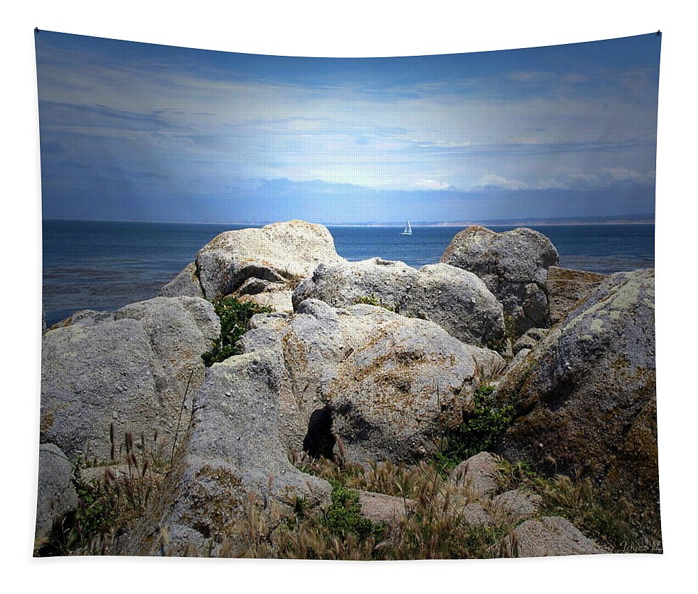 Sail Tapestry featuring the photograph Sailing The Peninsula by Joyce Dickens