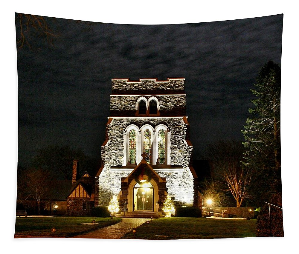 Karen Silvestri Tapestry featuring the photograph Saint Lukes East Hampton by Karen Silvestri