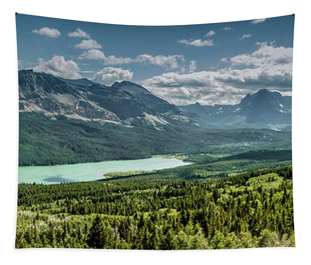 Beautiful Tapestry featuring the photograph Saint Mary Lake Panorama by Teresa Wilson