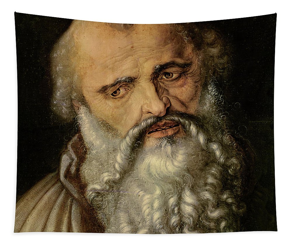 Beard Tapestry featuring the painting Saint Philip The Apostle by Albrecht Durer