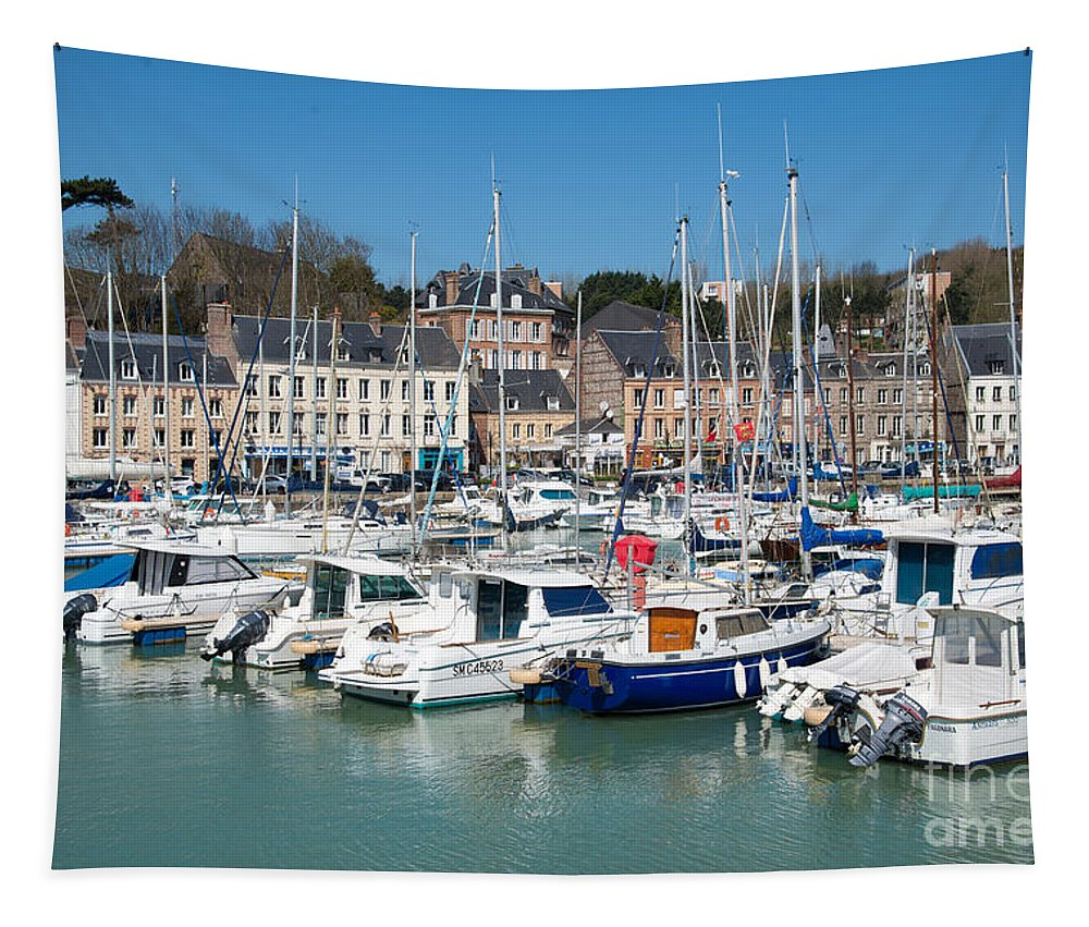 Harbour Tapestry featuring the photograph Saint Valery En Caux by Delphimages Photo Creations