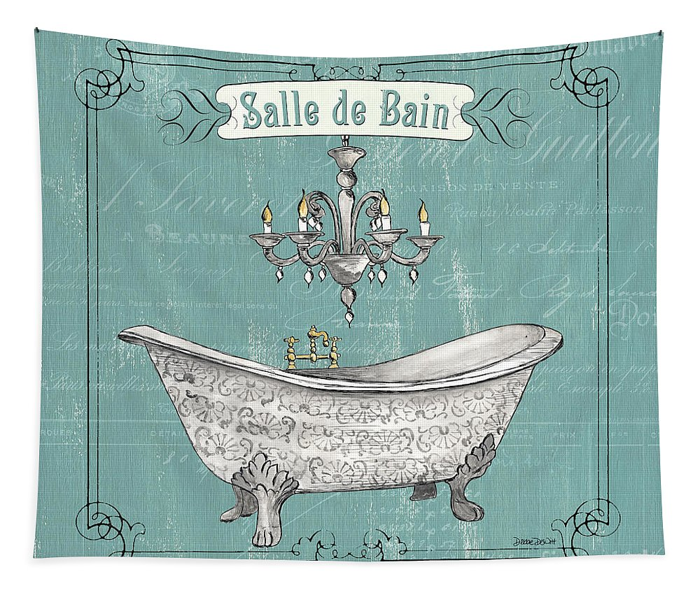 Bath Tapestry featuring the painting Salle De Bain by Debbie DeWitt