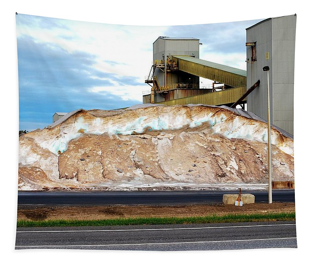 Salt Mine Tapestry featuring the photograph Salt Mine by Carol J Deltoro