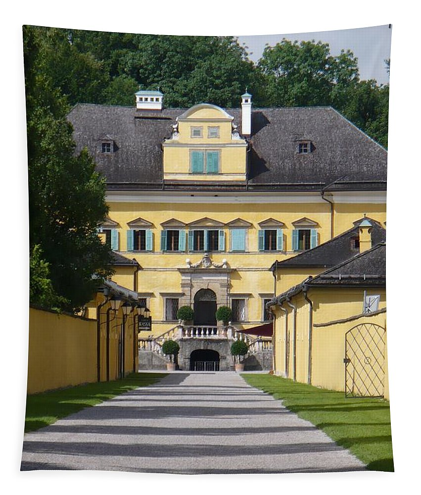 Austria Tapestry featuring the photograph Salzburg Chateau by Carol Groenen