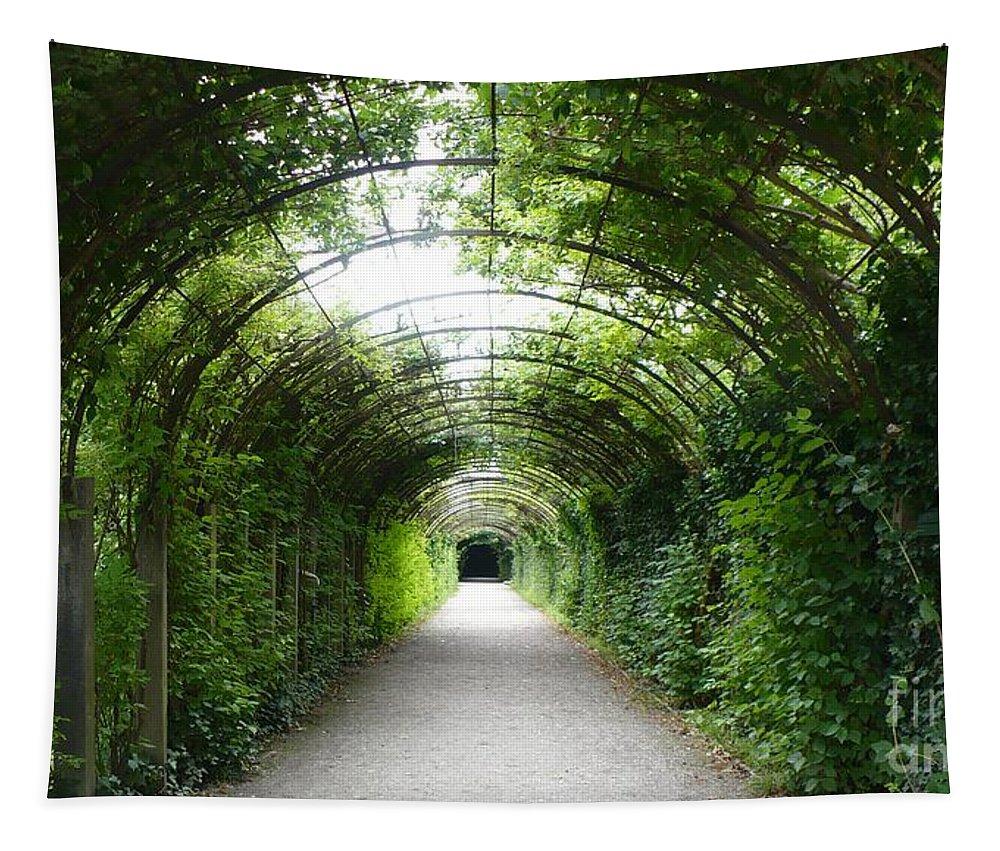Europe Tapestry featuring the photograph Salzburg Garden Arbor by Carol Groenen