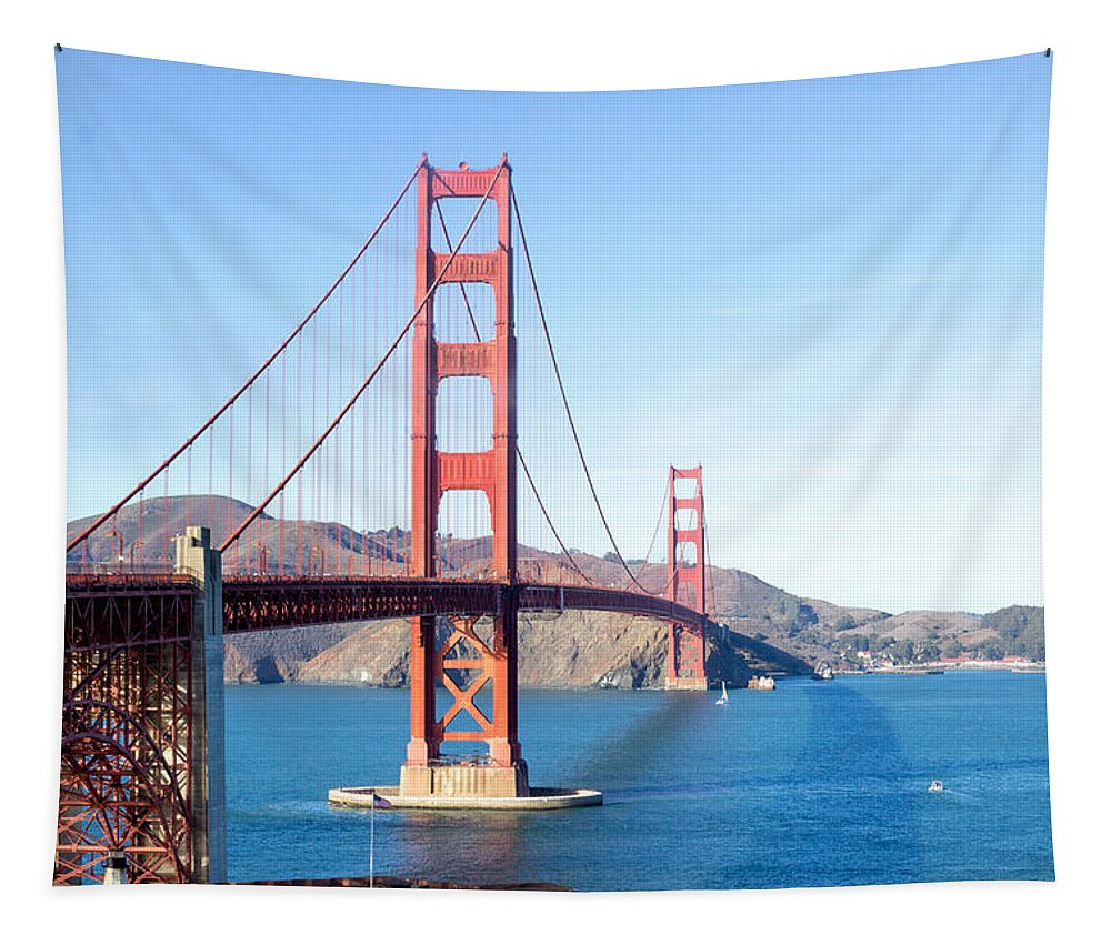 San Francisco Tapestry featuring the photograph San Francisco's Golden Gate Bridge by G Matthew Laughton