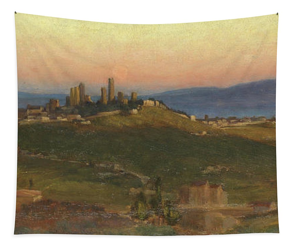 San Gimignano Tapestry featuring the painting San Gimignano, 1898 by Edith Ridley Corbet