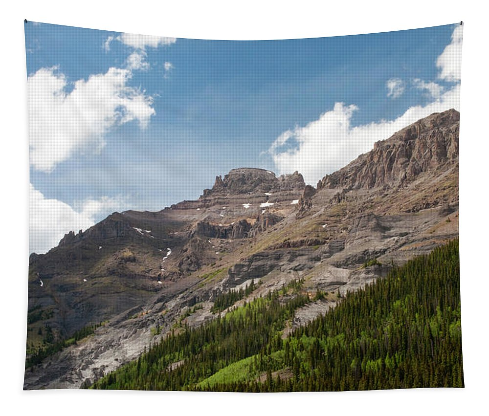 Colorado Tapestry featuring the photograph San Juan Mountains by Julia McHugh