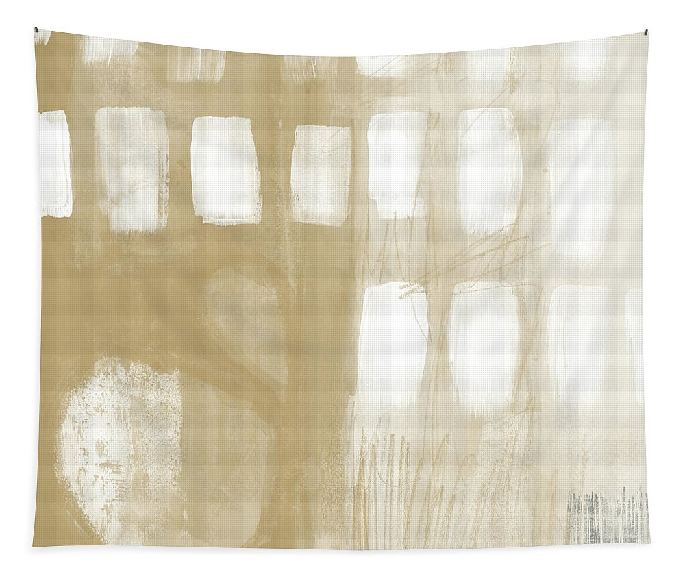Abstract Tapestry featuring the painting Sand And Stone 4- Contemporary Abstract Art By Linda Woods by Linda Woods