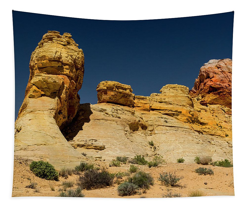 Landscape Tapestry featuring the photograph Sandstone Fortress Valley Of Fire by Frank Wilson