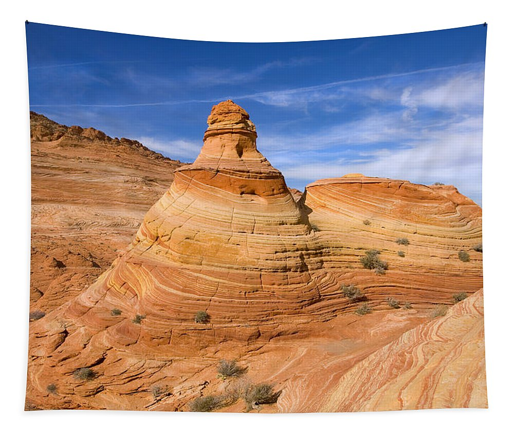 Tent Tapestry featuring the photograph Sandstone Tent Rock by Mike Dawson
