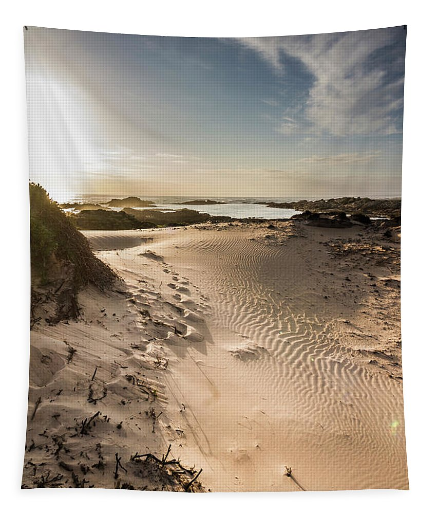 Bay Tapestry featuring the photograph Sandy Beach Haven by Jorgo Photography - Wall Art Gallery
