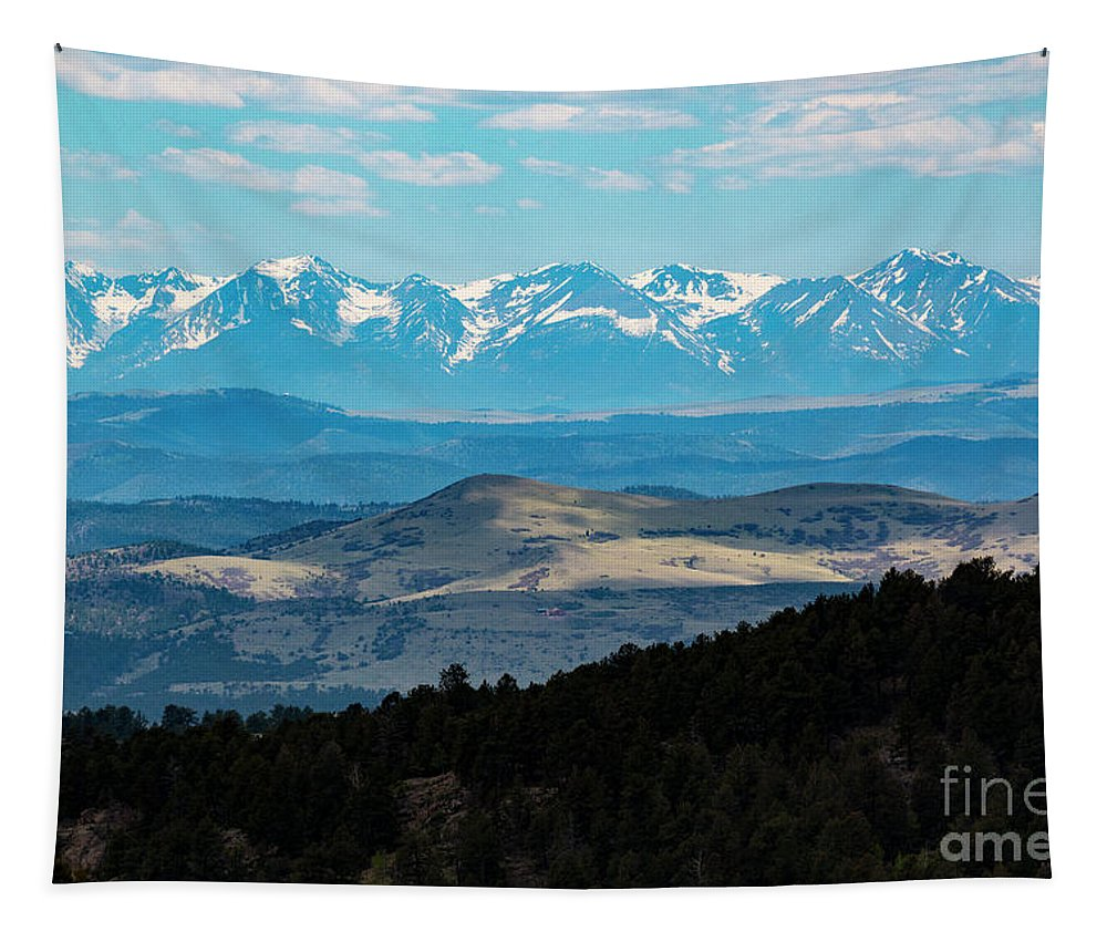 Sangre De Cristo Tapestry featuring the photograph Sangre De Cristo And Collegiate Peaks by Steve Krull