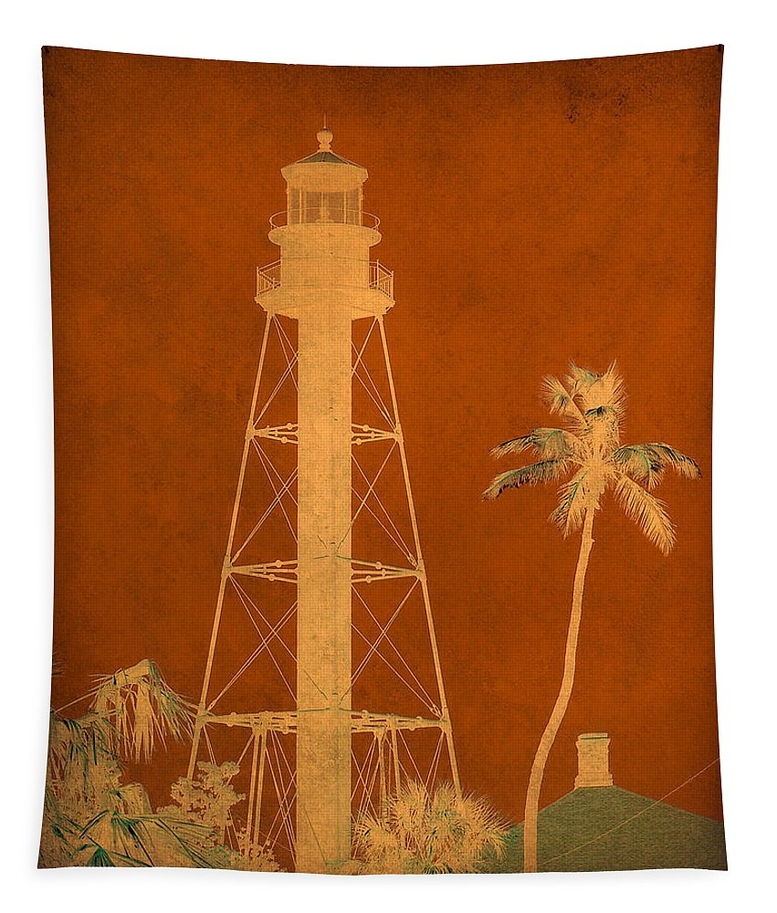 Sanibel Tapestry featuring the photograph Sanibel Island Lighthouse by Trish Tritz