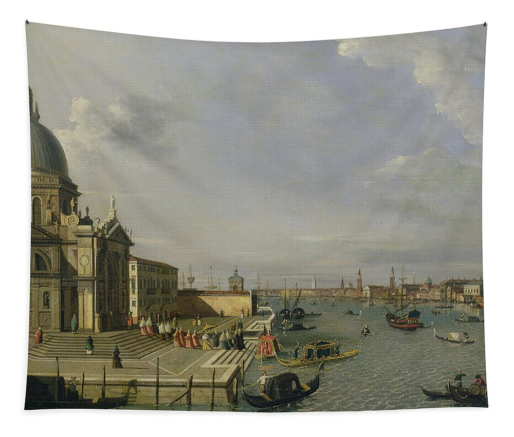 Santa Tapestry featuring the painting Santa Maria Della Salute - Venice by William James
