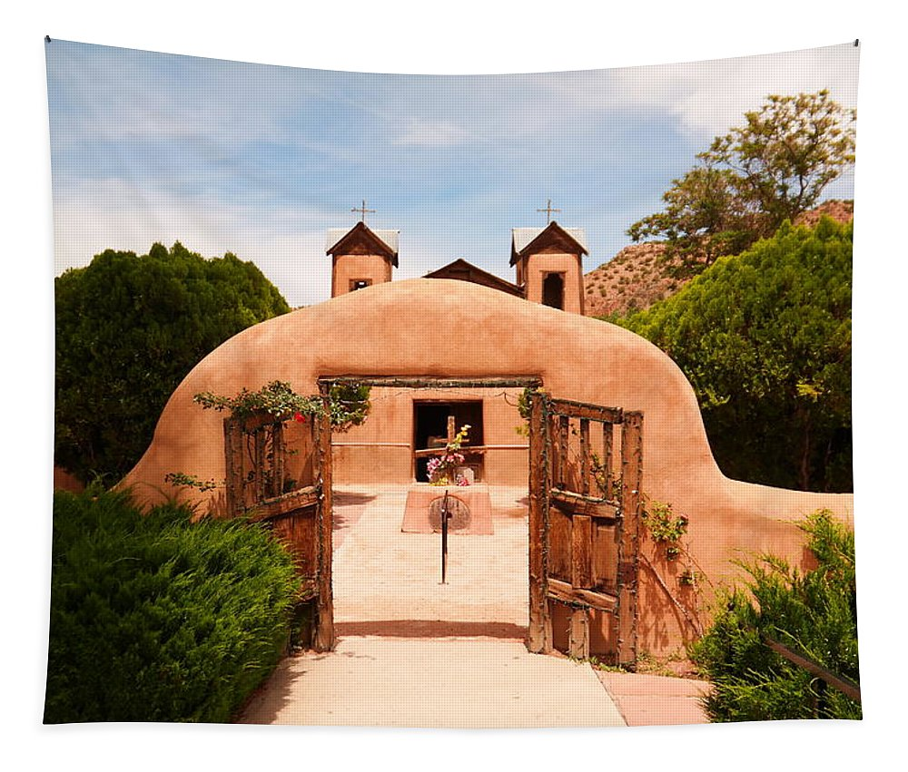 Church Tapestry featuring the photograph Santo Nino De Atocha Chimayo New Mexico by Jeff Swan