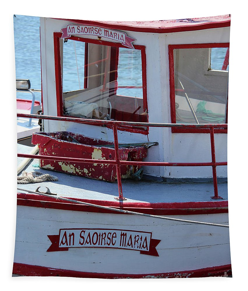 Boat Tapestry featuring the photograph Saoirse Boat Donegal by Eddie Barron