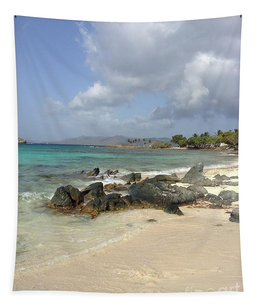 Sapphire Beach Tapestry featuring the photograph Sapphire Beach St. Thomas by Gina Sullivan