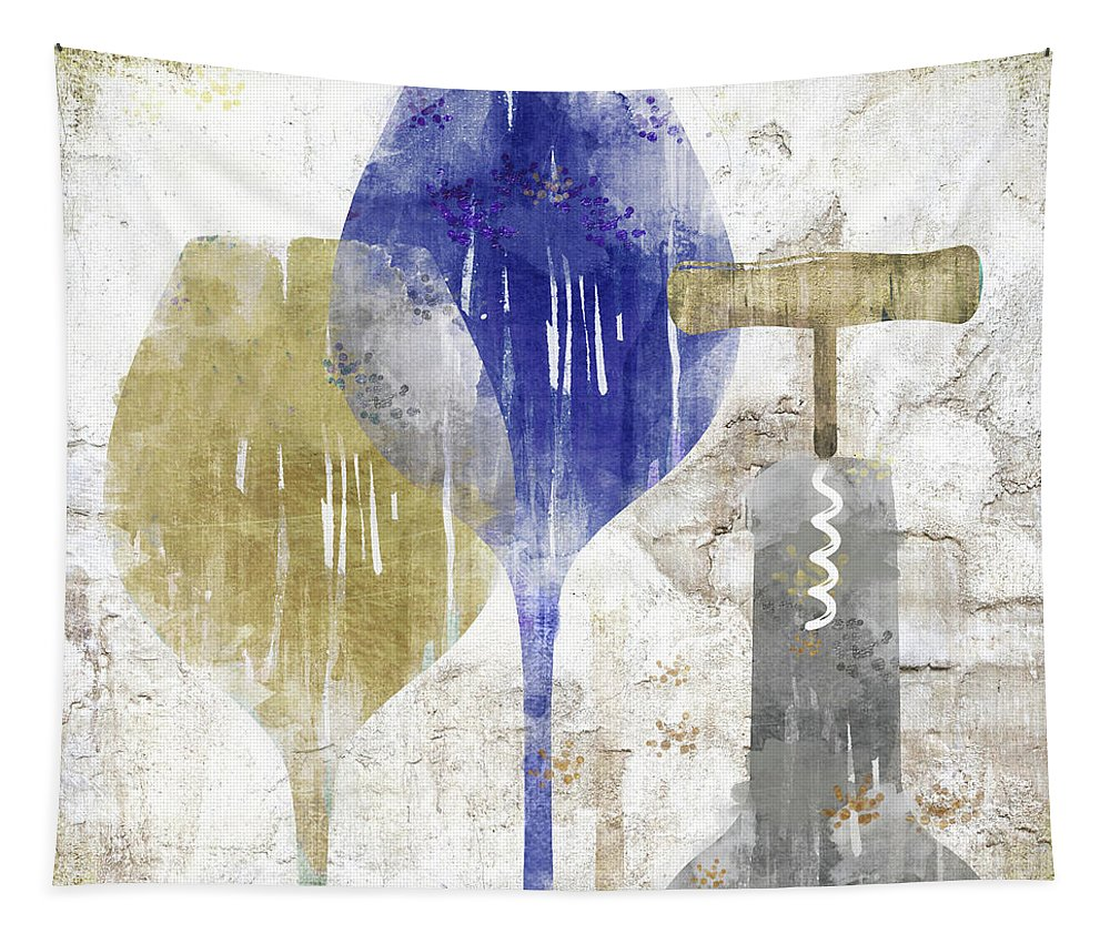 Wine Tapestry featuring the painting Savory Midnight by Mindy Sommers