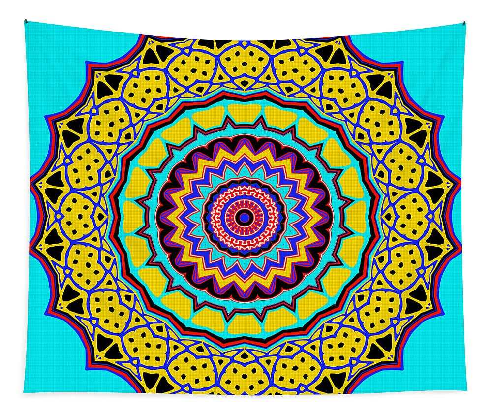 Digital Tapestry featuring the digital art Scalloped by Joy McKenzie
