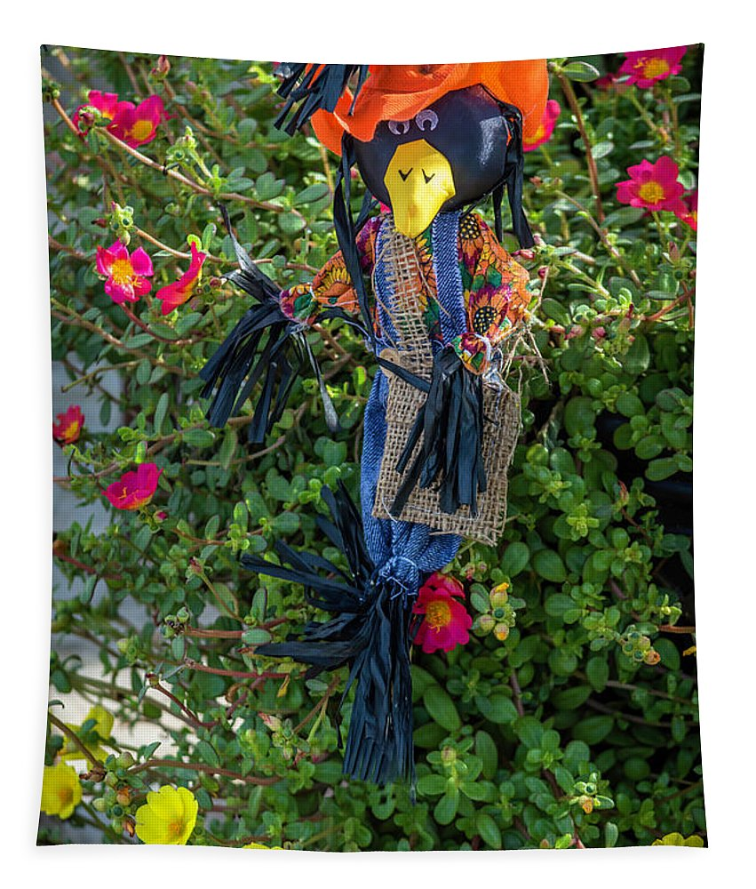 Bird Tapestry featuring the photograph Scare Bird by Leticia Latocki