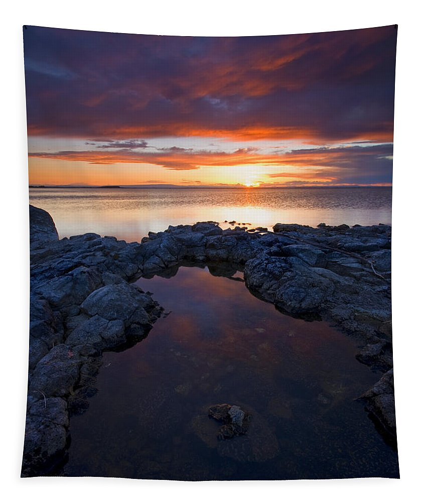 Potholes Tapestry featuring the photograph Scarlet Pools by Mike Dawson