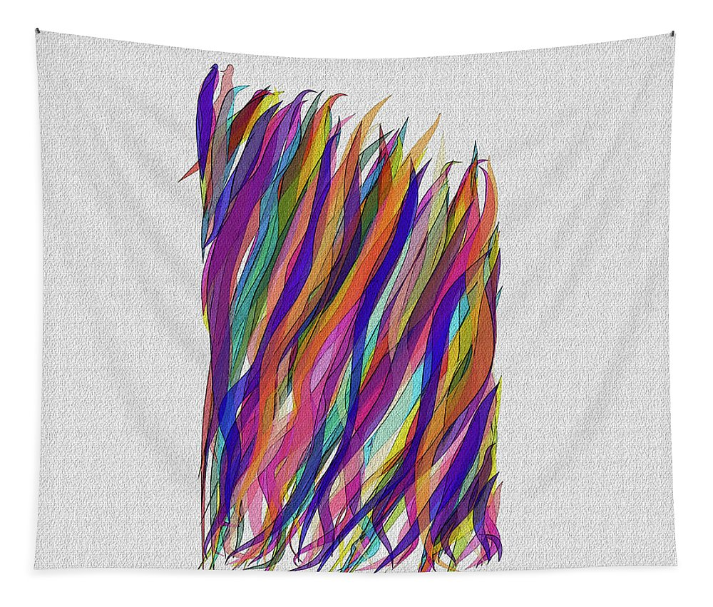 Abstract Tapestry featuring the photograph Scarves by Bill Owen