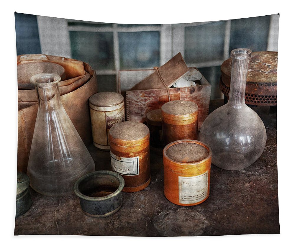 Hdr Tapestry featuring the photograph Science - Chemist - Ready To Experiment by Mike Savad