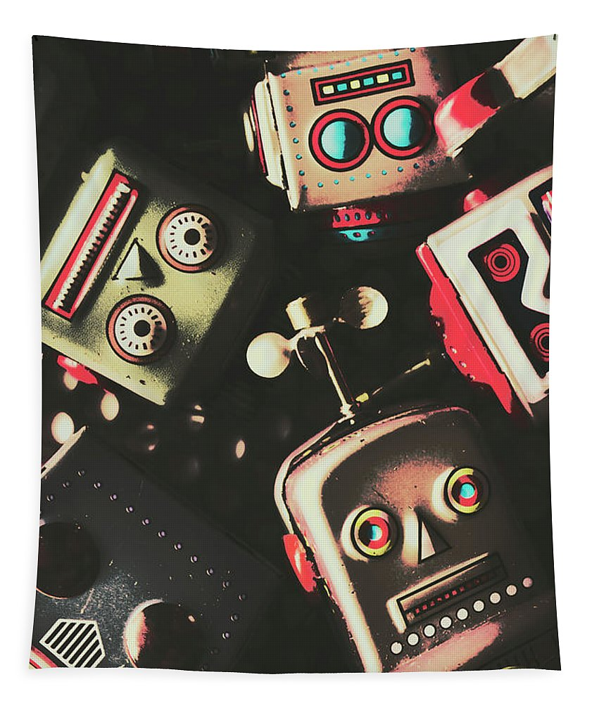 Head Tapestry featuring the photograph Science Fiction Robotic Faces by Jorgo Photography - Wall Art Gallery