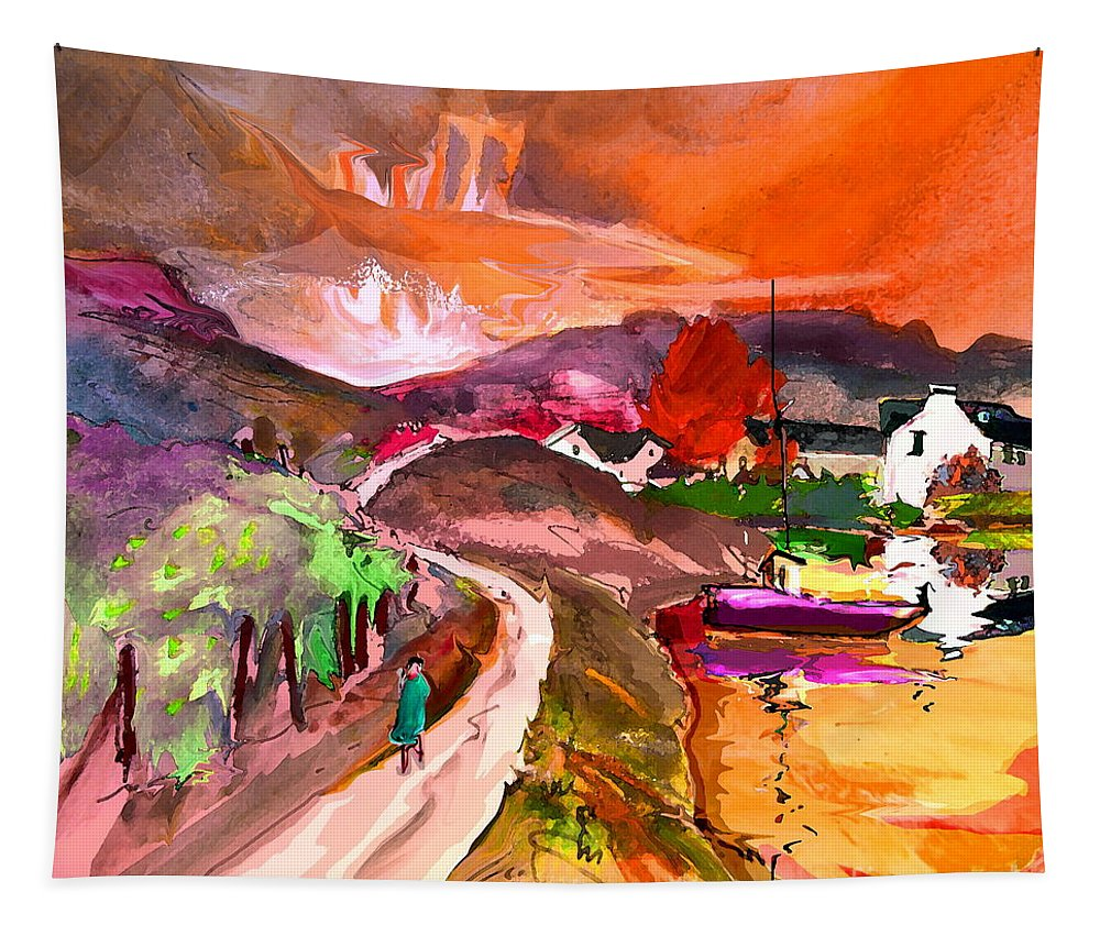 Scotland Paintings Tapestry featuring the painting Scotland 02 by Miki De Goodaboom