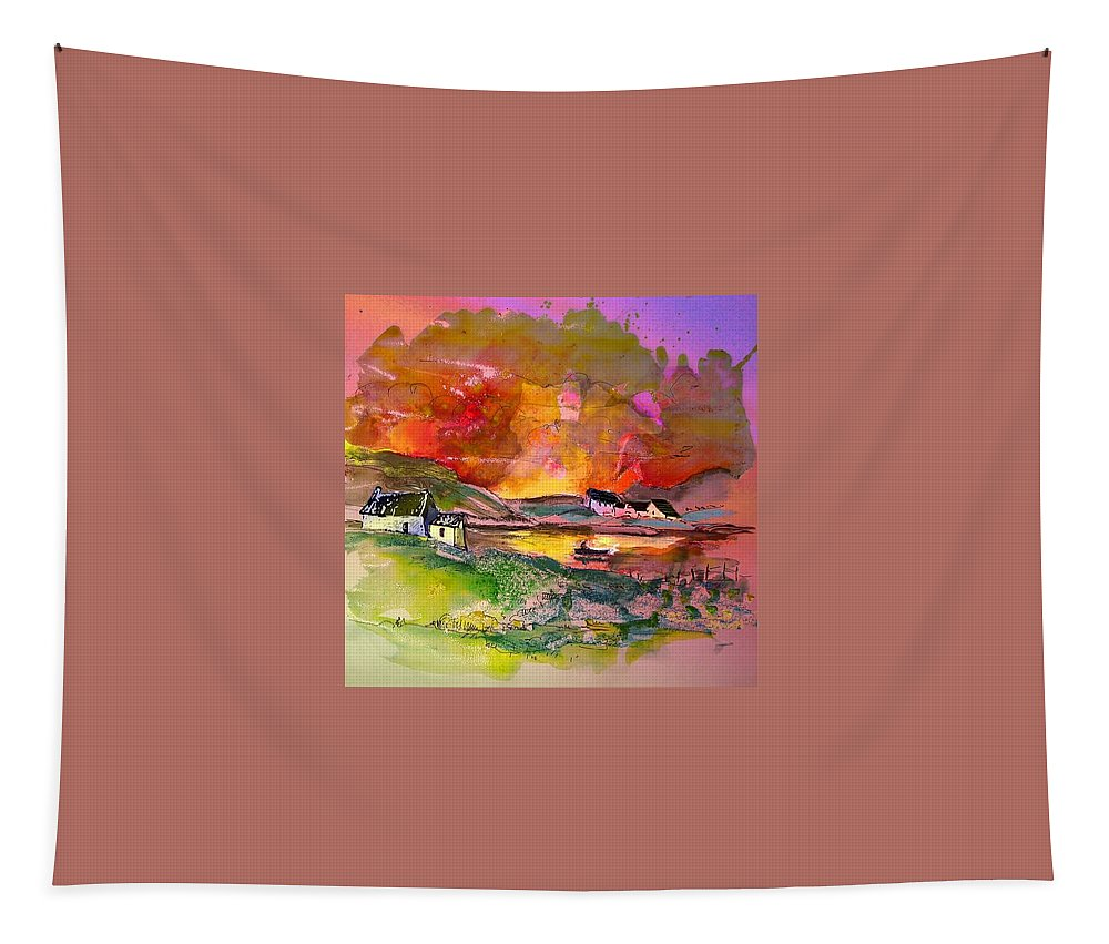Scotland Paintings Tapestry featuring the painting Scotland 07 by Miki De Goodaboom