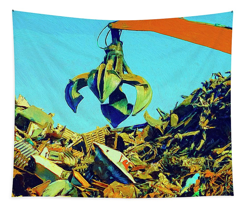 Scrap Tapestry featuring the painting Scrap by Dominic Piperata