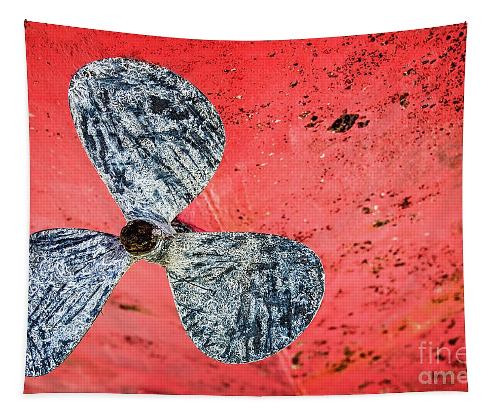 Screw Tapestry featuring the photograph Screw Propeller by Delphimages Photo Creations