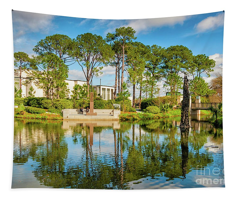 New Orleans Tapestry featuring the photograph Sculpture Garden Lagoon -city Park New Orleans by Kathleen K Parker