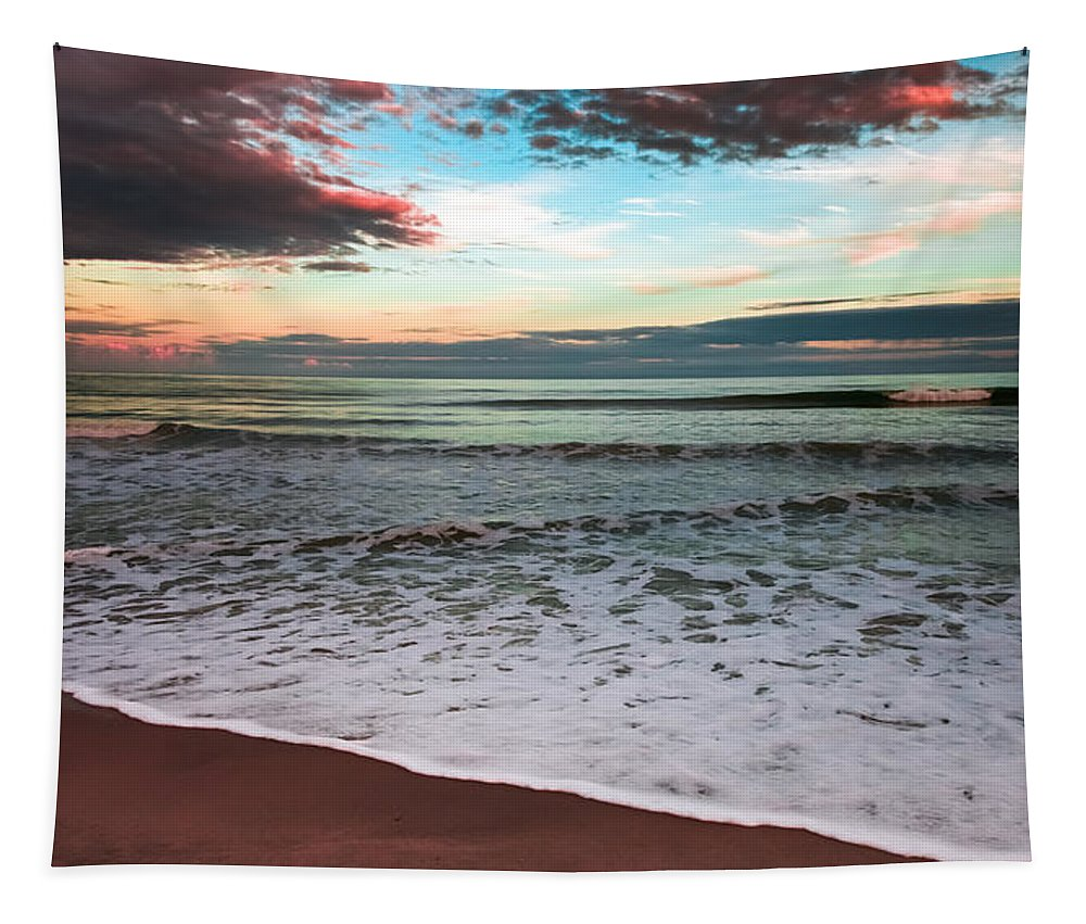 Sea Of Serenity Tapestry featuring the photograph Sea Of Serenity by Karen Wiles