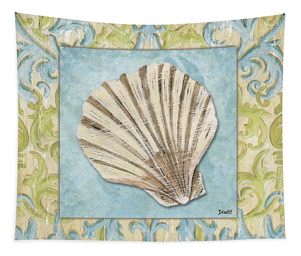 Bath Tapestry featuring the painting Sea Spa Bath 1 by Debbie DeWitt