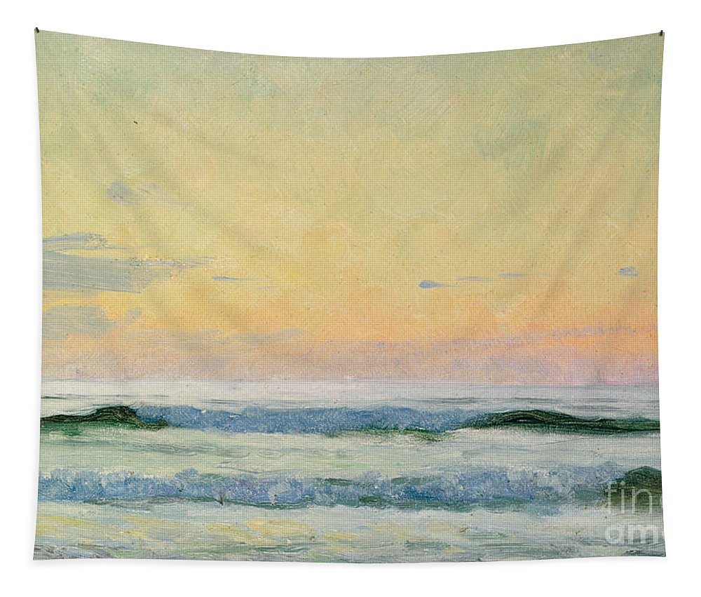 Seascape Tapestry featuring the painting Sea Study by AS Stokes