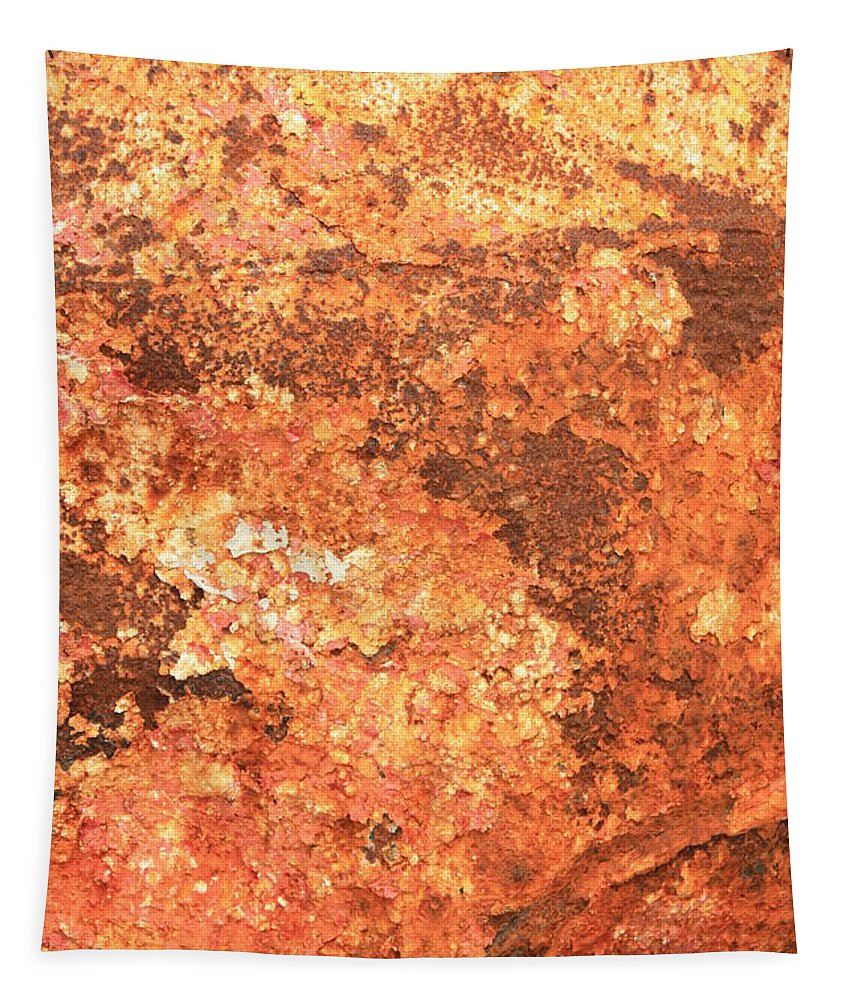 Warm Colors Tapestry featuring the photograph Sea Weathered- Abstract Art by Carol Groenen