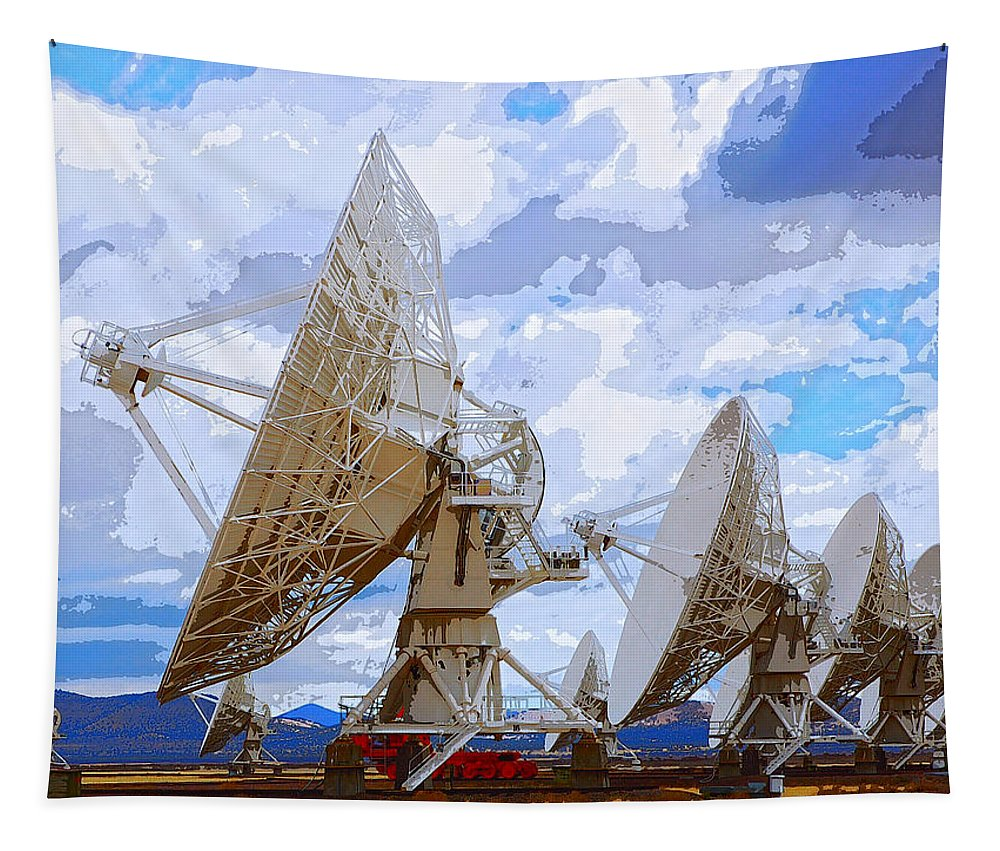 Seti Tapestry featuring the mixed media Searching by Dominic Piperata