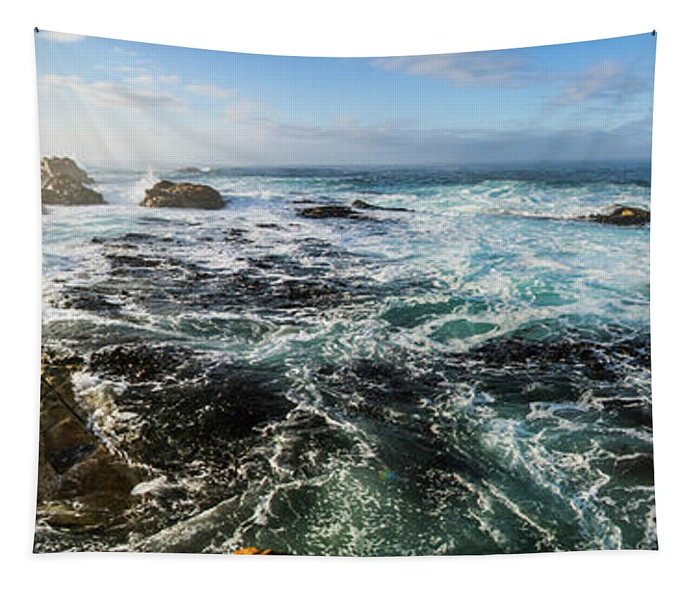 Panorama Tapestry featuring the photograph Seas Of The Wild West Coast Of Tasmania by Jorgo Photography - Wall Art Gallery