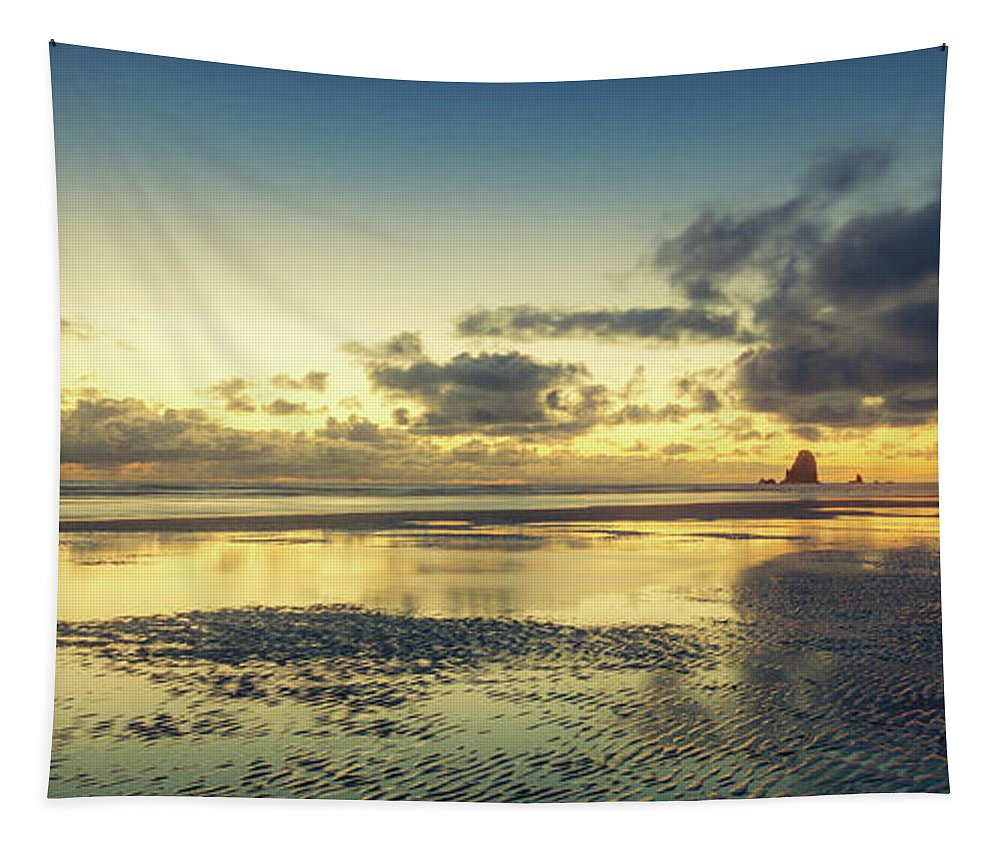 Cannon Beach Tapestry featuring the photograph Seaside Palette by Don Schwartz