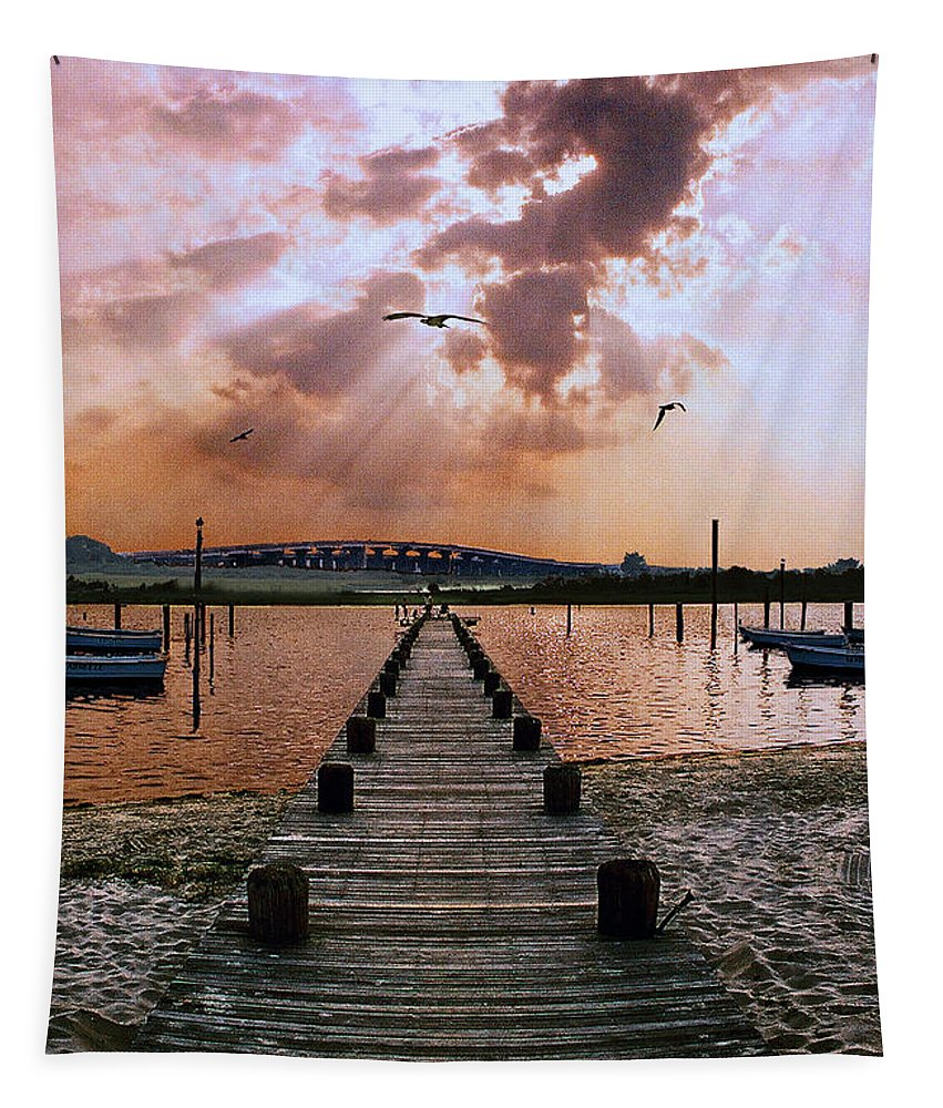 Seascape Tapestry featuring the photograph Seaside by Steve Karol
