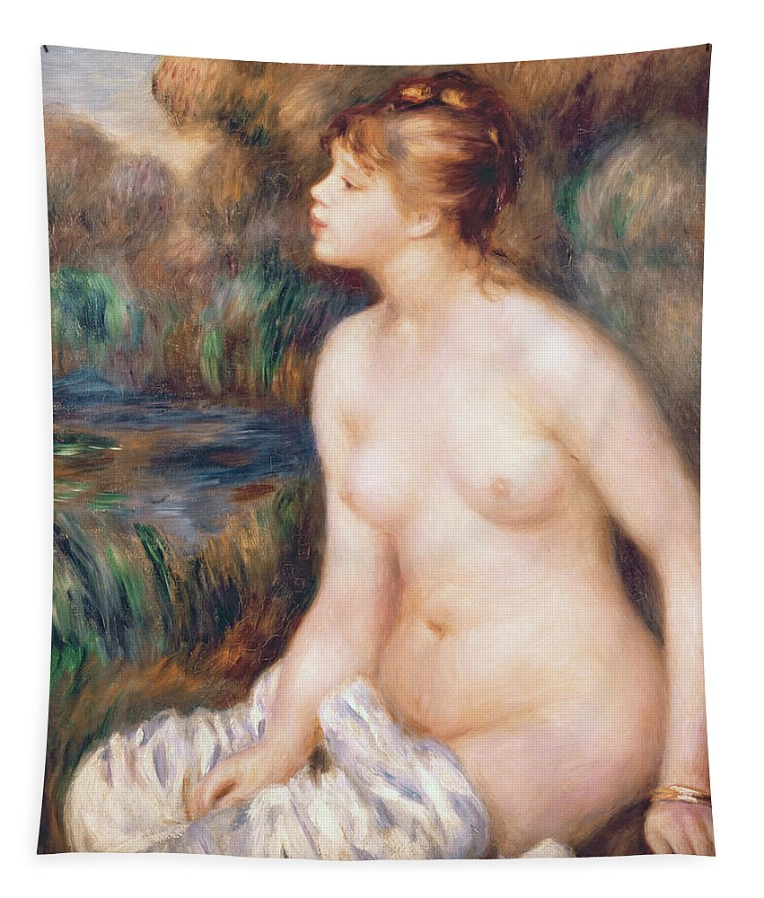 Seated Tapestry featuring the painting Seated Female Nude by Renoir