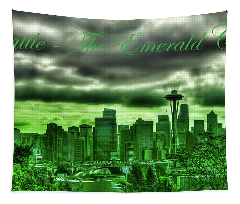 Seattle Washington - The Emerald City Tapestry featuring the photograph Seattle Washington - The Emerald City by David Patterson