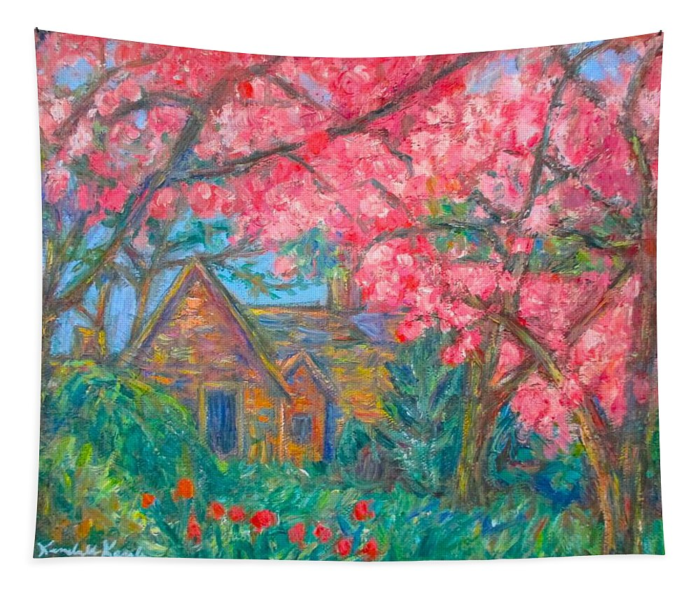 Homes Tapestry featuring the painting Secluded Home by Kendall Kessler