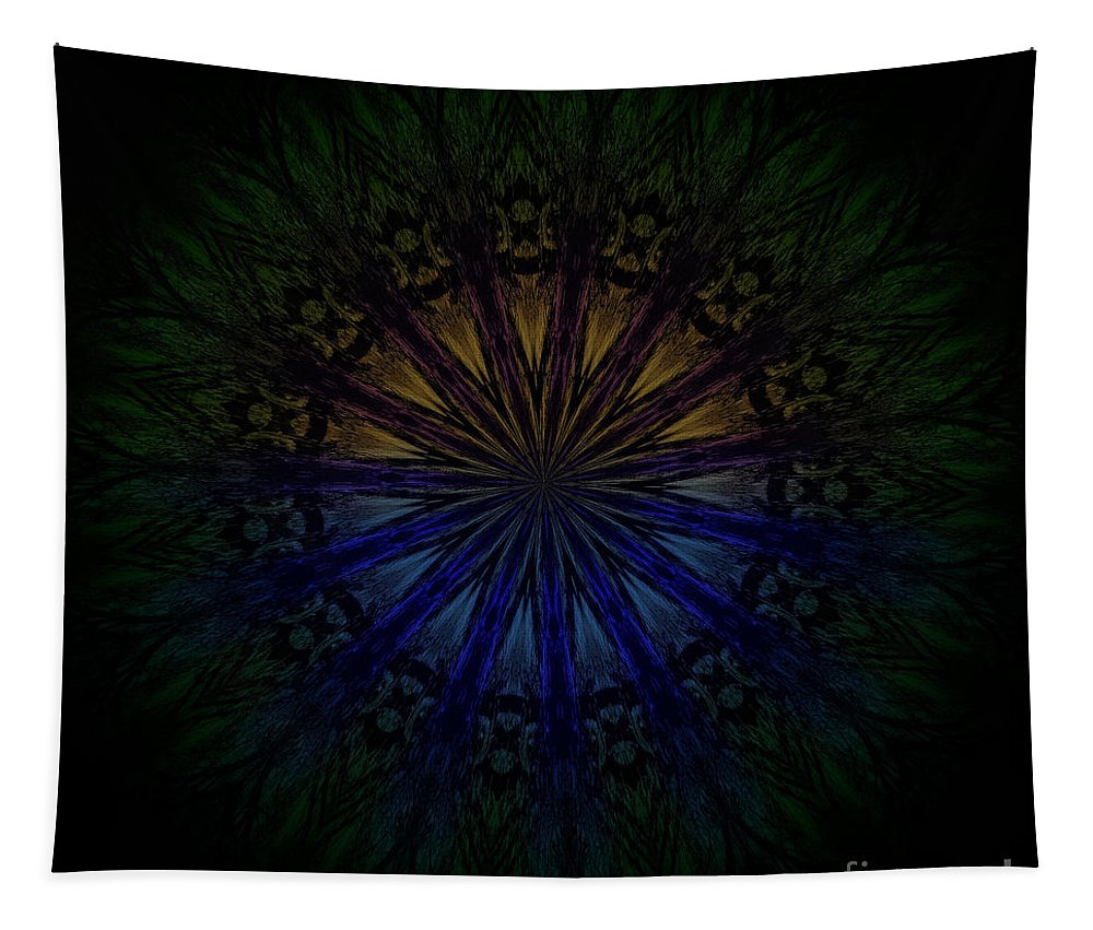Mandala Tapestry featuring the digital art Second Sight by Sandra Gallegos