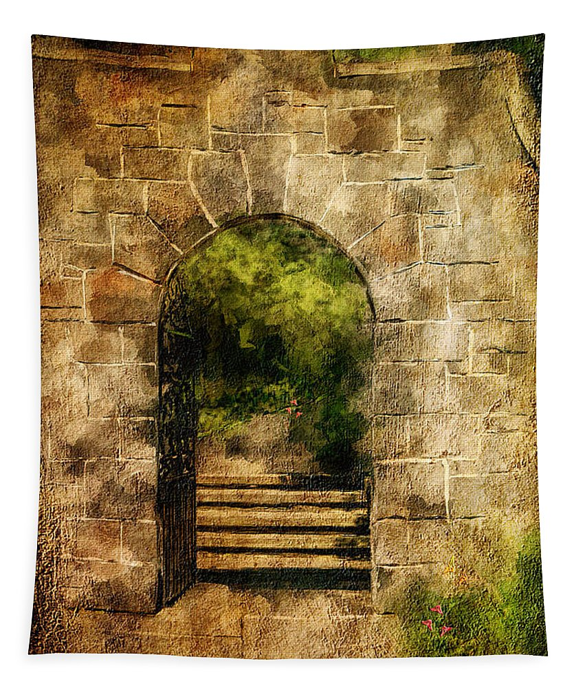Arch Tapestry featuring the photograph Secret Garden by Lois Bryan